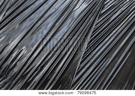 Black Polyethylene Packing Film Background Texture