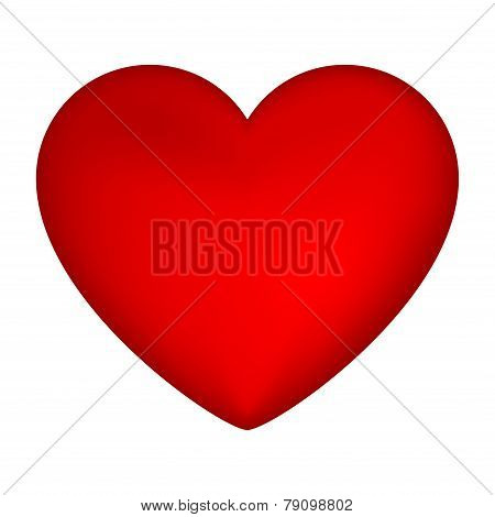 Silhouette Heart Isolated