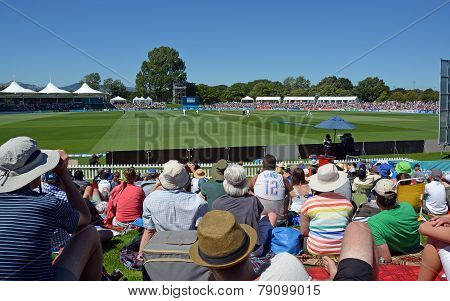 Cricket - Boxing Day Test Match Crowd At Hagley Oval Christchurch