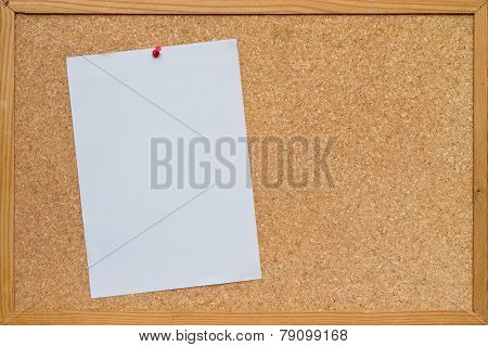 Paper On Bulletin Board