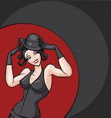 picture of cabaret  - standing woman from cabaret - JPG