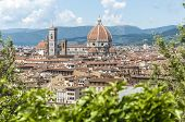 foto of mary  - The Basilica di Santa Maria del Fiore (Basilica of Saint Mary of the Flower) the main church of Florence Italy