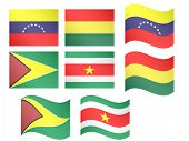 stock photo of suriname  - South America Flags - JPG