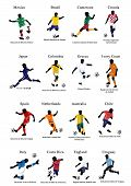 stock photo of ivory  - Figures of players of 16 football national teams  - JPG