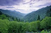 foto of appalachian  - Beautiful sunset view of the Smoky Mountains - JPG