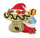 pic of sad christmas  - Illustration of christmas cartoon face emotions on white - JPG
