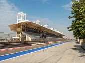 picture of grandstand  - SAKHIR BAHRAIN Main Grandstand at Bahrain International Circuit Sakhir Bahrain - JPG