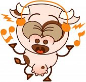 picture of enthusiastic  - Cute cow in minimalistic style - JPG