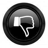 foto of dislike  - dislike black icon thumb down sign  - JPG