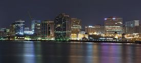 picture of dartmouth  - Night image of Halifax skyline taken from Dartmouth side of the harbour - JPG