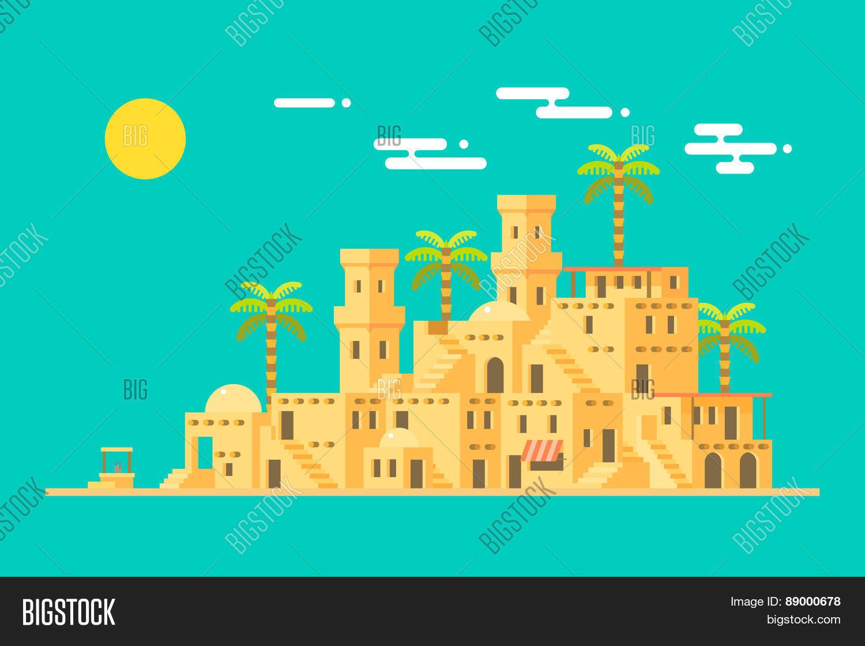 Middle East Desert Village