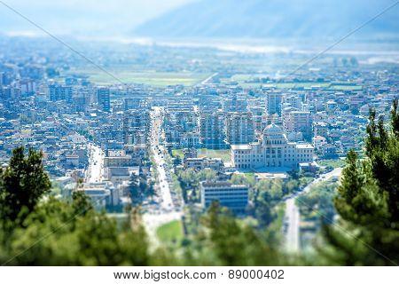 Modern part of Berat city
