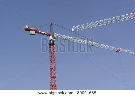 Crane Tower On Sky Background