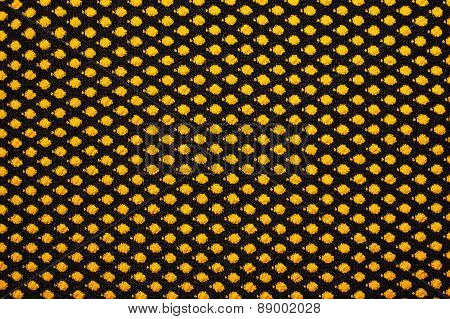 Knitted Fabric With Yellow Peas Background