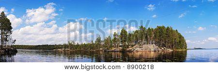 Rock Under Blue Lake