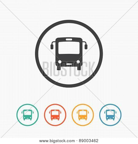 Minimalistic simple bus icon. Vector