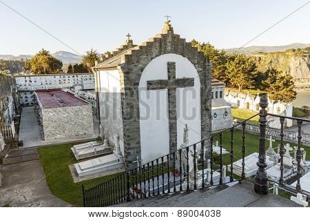 The Cemetery Of Luarca, Spain