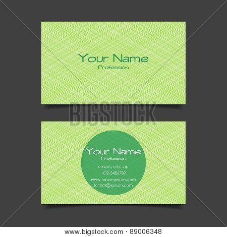 Abstract modern business card vector template