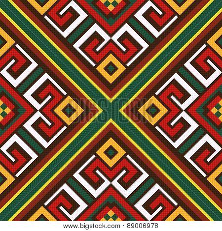 Seamless Oriental Colourful Pattern