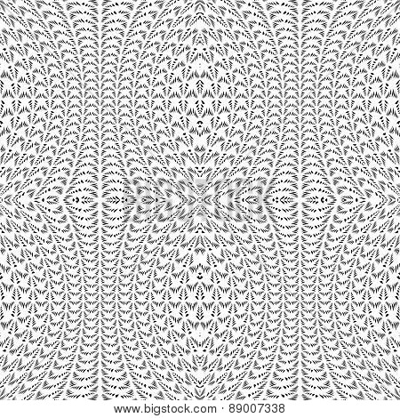 Design Seamless Monochrome Decorative Lacy Pattern