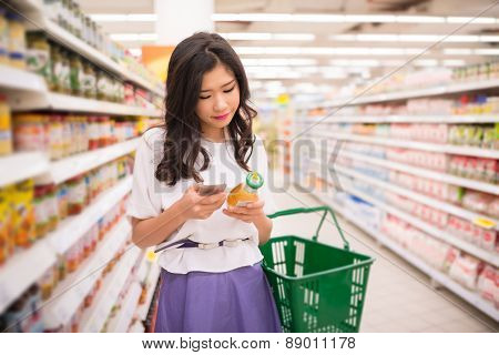 Reading information about product