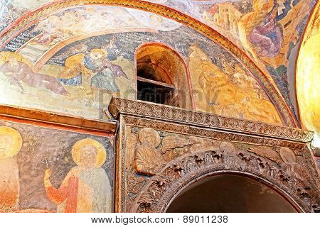 Murals Under The Dome In The Church Of The Holy Savior Outside Th