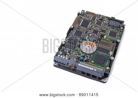 Hard Disk Drive Isolate On White Background.