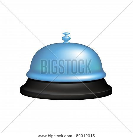 Service bell in black and blue design