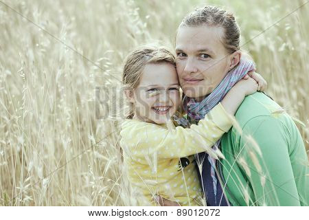 Mother And Daughter Bonding Embrace