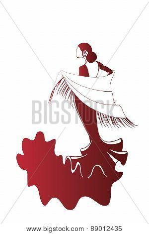 Flamenco silhouettes