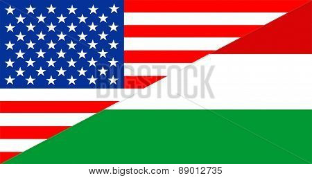 Usa Hungary Flag