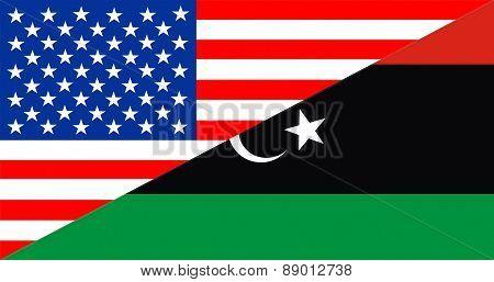 Usa Libya Flag