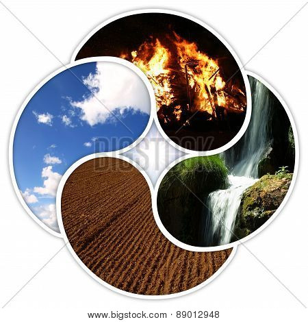 The four elements of nature