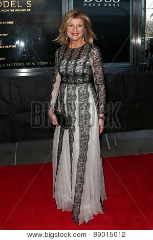 NEW YORK-APR 21: Author/columnist Arianna Huffington attends the 2015 Time 100 Gala at Frederick P. Rose Hall, Jazz at Lincoln Center on April 21, 2015 in New York City.