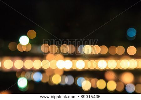 Bokeh Lights Of Night Background
