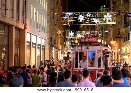 Istiklal street, Istanbul, Turkey.