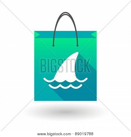 Shopping Bag Icon With A Shark Fin