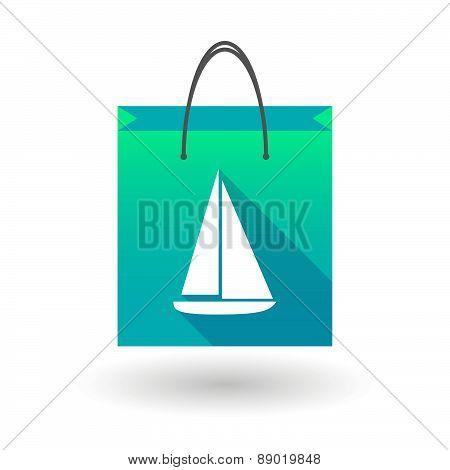 Shopping Bag Icon With A Ship
