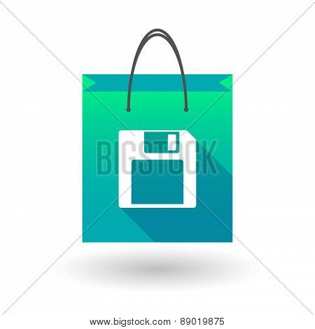 Shopping Bag Icon With A Floppy