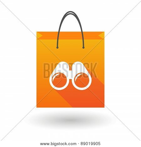 Shopping Bag Icon With A Binoculars