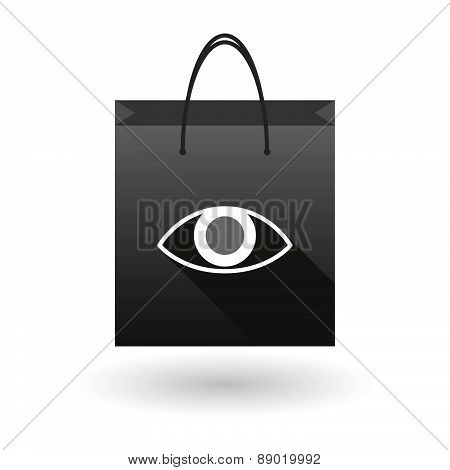 Shopping Bag Icon With An Eye