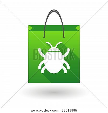 Shopping Bag Icon With A Bug