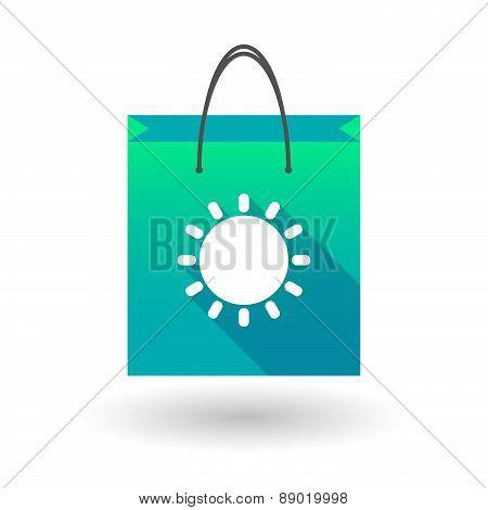 Shopping Bag Icon With A Sun