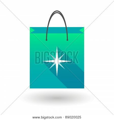 Shopping Bag Icon With A Star
