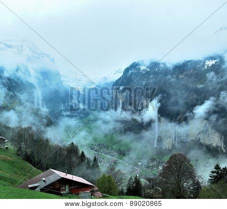 Townscape Of Interlaken, Switzerland
