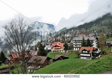 Townscape Of Interlaken, Switzerland.