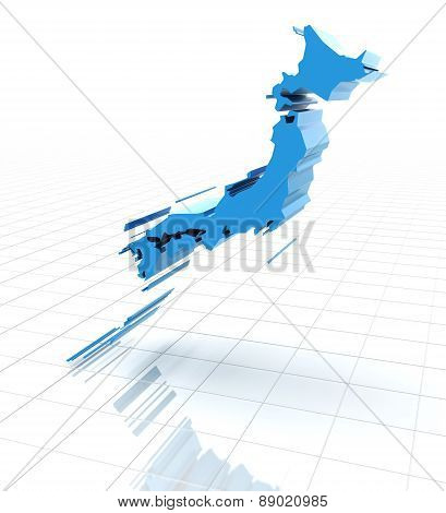 Extruded map of Japan