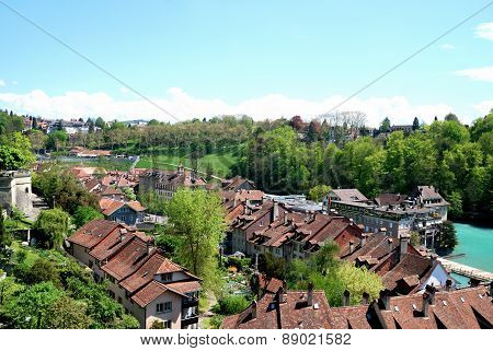 Townscape of Berne Switzerland.