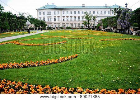 Flowerbade In The Park. Salzburg, Austria