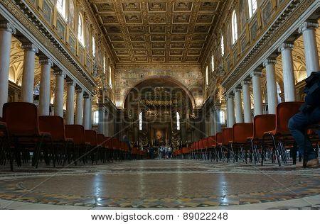 Santa Maria Maggiore Interior In Rome
